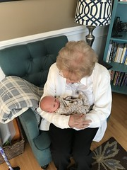 "Grandma Shirley Holds Sam • <a style=""font-size:0.8em;"" href=""http://www.flickr.com/photos/109120354@N07/32563796848/"" target=""_blank"">View on Flickr</a>"