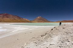 Atacama Desert, Bolivia (Phil Spalding) Tags: chile bolivia atacama desert atacamadesert sky sea sand lake shore shoreline saturated colourful man looking onwards humble humbling canon 550d eos
