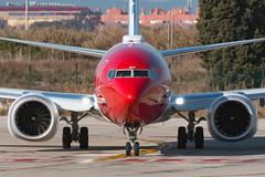 Norwegian B737-8MAX LN-BKF (José M. Deza) Tags: 20190121 b7378max bcn boeing elprat lebl lnbkf norwegain planespotting spotter aircraft