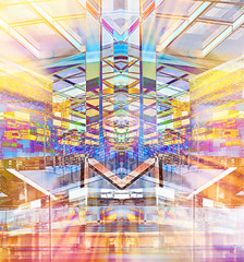 Westgate Centre Re-imagined 1 (virtually_supine) Tags: handheldartgroupmarchcontestarchitecture westgateshoppingcentreoxforduk glass steel columns brickwork walls reflections reflectivesurfaces architecture urbanarchitecture colourful creative digitalartwork photomanipulation layers texture collage mirroredimage abstract samsungj3 ipad icolorama pixlr picsart photoshopelements13mac oxford uk ipadartwork