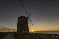 Windmill St Monans lookout at East Neuk (ronniefleming@btinternet.com) Tags: visitscotland ronnieflemingph31fy sunrise eastcoast windmill lookoutpost grass sea clouds blueskies