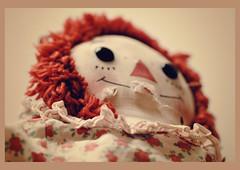 Smile Interrupted (Sarah E Springer) Tags: crazytuesday smile doll red toy dreamscancometrue flickrology makemesmile