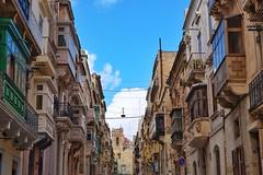 Malta Streets (Douguerreotype) Tags: city balcony buildings malta architecture urban