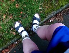 Jan 13th (soxer123) Tags: socks sandals shorts adidas clarks