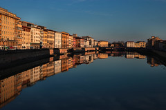 -Pisa Mirrored- (Roberto Rubiliani) Tags: architettura architecture acqua buildings canon cielo case city città colori colours edifici eos6d fullframe finestre fiume italia italy inverno arno palazzi pisa rubiliani robertorubiliani river reflection reflections riflessi sky sunset simmetria travel tuscany toscana tramonto urban urbano viaggio water winter windows