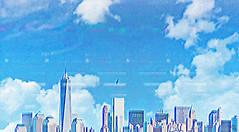fd (woodcum) Tags: gif animation gifanimation animated surreal sky falling boy clouds city retro glitch grain