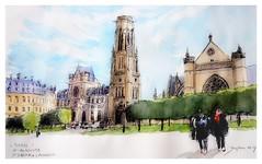 Paris - France - Saint Germain l'Auxois (guymoll) Tags: googleearthstreetview paris france saintgermainlauxois saintgermain église gothique gotic architecture
