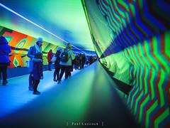 Canary Wharf Light Festival (amipal) Tags: 175mm canarywharf capital city england europe gb greatbritain lightfestival london manuallens night tunnel uk unitedkingdom urban voigtlander