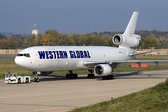 Western Global Airlines  McDonnell Douglas MD-11(F) N581JN (widebodies) Tags: liege lüttich lgg eblg widebody widebodies plane aircraft flughafen airport flugzeug flugzeugbilder western global airlines mcdonnell douglas md11f n581jn