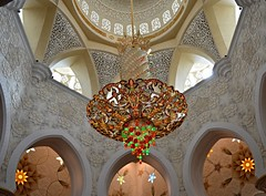 Sheikh Zayed Grand Mosque (Seventh Heaven Photography *) Tags: abu dhabi uae united arab emirates sheik zayed grand mosque nikon d3200 interior chandelier architecture light main prayer hall white marble