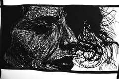 Horhizome 03 (onesecbeforethedub) Tags: vilem flusser technical images vassilis galanos onesecbeforetheend onesecbeforethedub onesecaftertheend black white blackandwhite whiteandblack whiteblack blackwhite sketch faces face woman girl art artistic artist quickart quickdraw quicksketch scribble