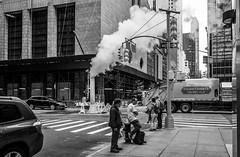 NYC Streets (Maciek Lulko) Tags: usa usa2018 manhattan midtown blackandwhite bw streetphoto street nycstreets people