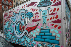 Harlem, New York (Quench Your Eyes) Tags: ny streetartnyc explorebybike explorenyc harlem manhattan newyork newyorkcity nyc streetart truckart uppermanhattan urbanart urbanimal