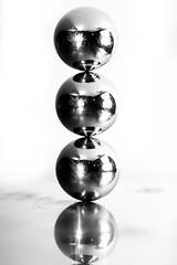 Balanced Bearings (Mark Wasteney) Tags: macromondays balance bw monochrome ballbearings metal metallic steel
