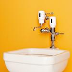 汚物流し便器用自動洗浄器の写真