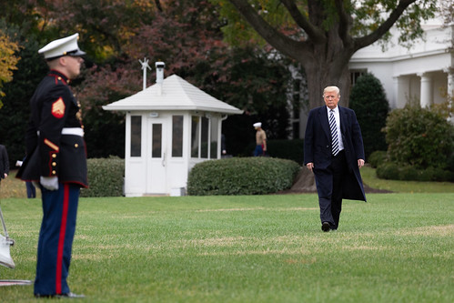 President Donald J. Trump Departs the South Lawn