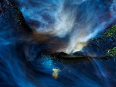 Water Over Rocks (kckelleher11) Tags: 2018 glencree olympus closeup em1 flowing macro moss november omd rock stream water
