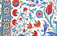 TILE00225 (NORTHERNLIGHTS IMAGES) Tags: tile pattern background islamic floral turkish design blue iznik illustration ceramic decoration art traditional culture vintage islam seamless wallpaper oriental decor old white arabic ornamental architecture ottoman ornament decorative istanbul flower antique red mosque ornate turquoise vector texture tulip beautiful turkey abstract element morocco black green retro motif arabesque east