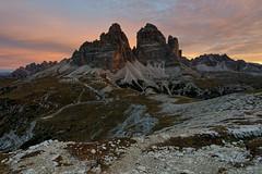 Tre Cime (jirka_74) Tags: trecimedilavaredo trecime dolomites dolomiti sextendolomites sunrise italy landscape d810