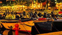 The port of Garda on Lake Garda at night (Ostseetroll) Tags: garda gardasee geo:lat=4557556932 geo:lon=1070560562 geotagged ita italien veneto hafen nachtaufnahme port lakegarda lagodigarda nightshot fischerboote boats olympus em5markii