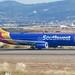 Southwest Airlines Boeing 737 -800 N8542Z dual scimitar winglets, taxiing OAK DSC_0650