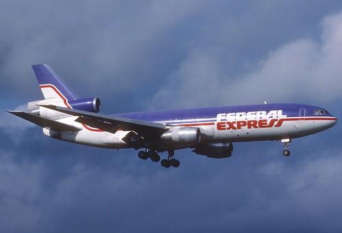 Federal Express DC-10-30F; N309FE@ZRH, April 1990