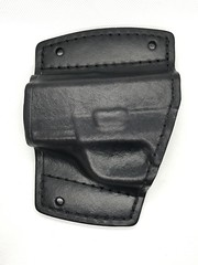 Springfield XDE Car Holster Front (americanleathersmith) Tags: carholster leatherholster gunholster concealcarry holster mounted leather