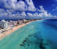 Cancun (Brandon Velasco) Tags: cancun dji djiphantom4pro phantom4pro drone aerial ocean photo panorama photography water beach bluesky sand buildings resort royalsolaris mexico yucatan clouds seascape blue