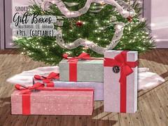 sundries - Christmas Gift Boxes (giftable) (lilydough) Tags: sl secondlife sundries original mesh gift box boxes giftboxes christmas happy holidays present presents