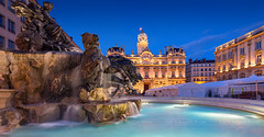 _MG_4594 - Place des Terreaux, Lyon (AlexDROP) Tags: 2018 europe lyon france art travel architecture cityhall color cityscape bluehour longexposure canon6d ef16354lis best iconic famous mustsee picturesque postcard hdr fountain