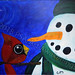 """""""Silent Night"""" by Cookie H, acrylic, $120.00"""