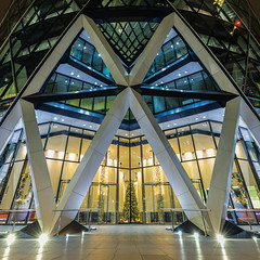St Mary Axe (Sam Codrington) Tags: diamonds thegherkin timeoutlondon stmaryaxe londonist triangle christmaslights longexposure timeout visitlondon london symmetry christmastree architecture night winter christmas christmasdecorations england unitedkingdom gb