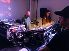 Steevio and Suzybee (diskojez) Tags: synth synths music tech pickle factory london steevio suzybee