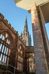 Old and New (HonleyA) Tags: coventry church architecture cathedral buildings ricohgr
