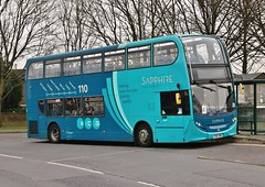 Arriva Sapphire 4410 (YX64 VME) on the Tamworth town service 4 (Derningtona) Tags: arriva tamworth sapphire enviro400