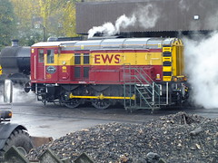 EWS class 08 . (steven.barker57) Tags: class 08 shunter lowered cut down cab 4f steam loco locomotive 20 railfreight kwvr keighley worth valley railway preserved haworth uk england