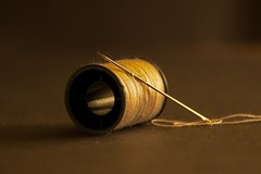 Macro Monday / Hobby (jmiller35) Tags: macromonday hobby needle cotton sewing macro canon thread