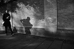 Little Shadow (Bury Gardener) Tags: streetphotography street streetcandids snaps strangers candid candids people peoplewatching folks cambridgeshire cambridge england eastanglia uk 2018 nikon nikond7200 bw blackandwhite monochrome mono