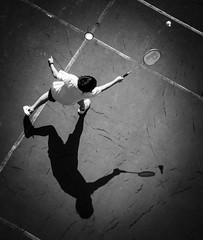 DSCF3210 (靴子) Tags: 黑白 單色 運動 羽毛球 兒童 光影 bw bnw sport kid xt2 fuji