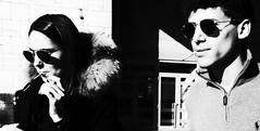 Going up in smoke, ain't got no hope. (Baz 120) Tags: candid candidstreet candidportrait city contrast street streetphotography streetphoto streetcandid streetportrait strangers rome roma europe women monochrome monotone mono noiretblanc bw blackandwhite urban life portrait people italy italia ricohgrii grittystreetphotography faces decisivemoment