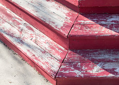 (Jeremy Whiting) Tags: stoop texture contrast red white geometry abstract city urban stairs shadow light canon digital camera 2017 detroit michigan
