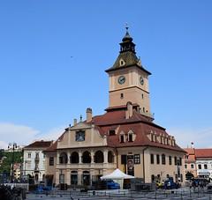 Brașov (Transilvania, Rumanía, 18-8-2018) (Juanje Orío) Tags: 2018 brașov transilvania rumanía românia europa europeanunion europe unióneuropea plaza torre tower reloj clock arquitectura