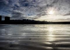 New Brighton Beach (Philip Brookes) Tags: sun contrejour newbrighton beach sand coast seaside wirral uk britain england merseyside buildings silhouette cloud