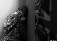 Manon (BenoitGEETS-Photography) Tags: d610 nikon 2470 tamron mons manon noiretblanc nb bn bw peur affraid seule alone
