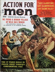 Action For Men Vol. 4, No. 1 (January 1960). Cover by Mad magazine artist, Jack Rickard (lhboudreau) Tags: pulpadventuremagazine magazine magazines mensadventuremagazine mensadventuremagazines adventuremagazine adventuremagazines pulpmagazine pulpmagazines mensmagazine mensmagazines action adventure actionmagazines actionmagazine actionformen january1960 1960 jackrickard gga goodgirlart babe babes sexybookcover sexybookcovers pulpfiction pulpart coverart magazineart pulpcover magazinecover paintedcover volume4number1 sexy sexycover sexyart cleavage jungle incawomen menindistress manindistress tree palm palms native natives helplessman helplessmen art artist loincloth loincloths wildincawomen