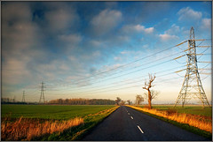 All roads lead to Lincoln........ (Jason 87030) Tags: sky light lincs lincol lincolnshire harmston lane clouds weather pylon electicity color colour sony ilce alpha a6000 lens tag flickr january 2019