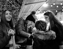 Saturday Night at the Market, Christmas Markets, Albert Square, Manchester (_p_e_r_s_e_p_h_o_n_e_) Tags: manchester manchestertownhall albertsquare christmasmarkets monochrome streetphotography canoneos80d affinityphoto