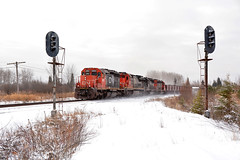 Ghosts of lines past.... (CN Southwell) Tags: cn dmir missabe snow winter abandoined signals