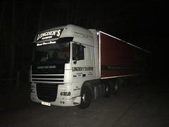 Illuminating (South Strand Trucking) Tags: dark truck lorry nighttime daf