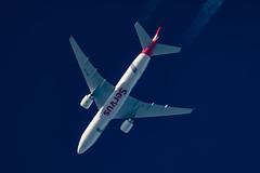 Austrian Airlines Boeing 777-2Q8 (ER) OE-LPF (Thames Air) Tags: austrian airlines boeing 7772q8 er oelpf contrail telescope dobsonian contrails overhead vapour trail